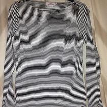Vineyard Vines Navy & White Striped Long Sleeved Shirt Size Small  Photo