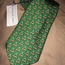 Vineyard Vines Neck Tie Custom Collection Baltusrol Golf Clubs Wings Green New Photo