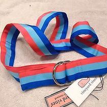 Vineyard Vines Neon Grossgrain Stripe D-Ring  Belt Nwt Large 49.50  Photo