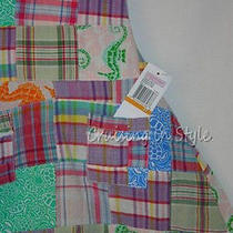 Vineyard Vines New Girls Dress Sz 3t Toddler Madras Patchwork Plaid Halter 99 Photo