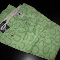 Vineyard Vines New Horseshoe Mojito Green Breaker Club Pants 35 Waist 35x32 Photo