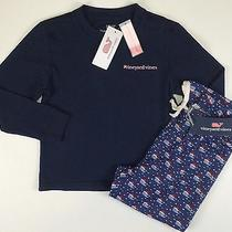 Vineyard Vines New Lounge Pants Ls Tee Shirt Outfit Girl Size 4t 5 Lbfo Photo