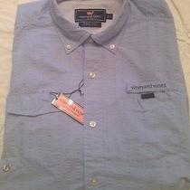 Vineyard Vines Nwt Men's Harbor Performance Shirt Rare Jake Blue Size L 125 Photo
