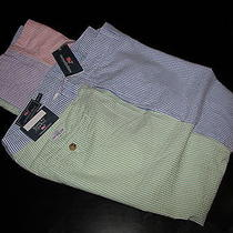 Vineyard Vines Pants New Club Seersucker Multi-Color 35 Waist 35x32 Photo