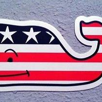 Vineyard Vines Patriotic Whale Sticker Collector's Item Free Shipping Photo