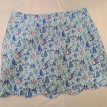 Vineyard Vines Performance Skort Skirt With Shorts Blue Euc   Golf Size 8 Photo