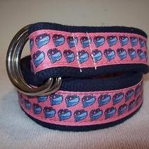 Vineyard Vines Pink Amr Dory Skiff D-Ring Belt sz.s Women Photo