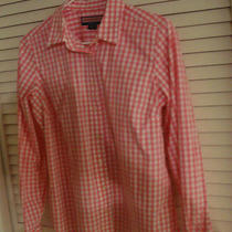 Vineyard Vines  Pink  Gingham  Blouse Top Telin  Shirt Cotton   Bust 80 Size 10 Photo