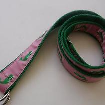 Vineyard Vines Pink/green Canvas  D-Ring Belt Sz M Photo