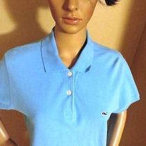 Vineyard Vines Polo Shirt by Shep & Lan Blue 100% Cotton Short Sleeve Size L Euc Photo