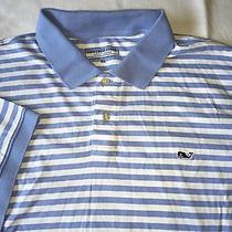 Vineyard Vines Polo Shirt Size Xl Light Blue Stripes Photo