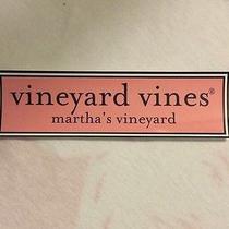 Vineyard Vines Rectangular Decal Pink Logo Bumper Sticker for Car or Computer Photo