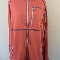 Vineyard Vines Red Pink Full Zip Jacket 2xl Xxl Whale Logo Fleece Lightweight Photo