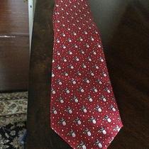Vineyard Vines  Red Snow Men Suit Tie Photo