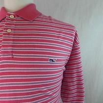 Vineyard Vines Salmon Pink 3xlt Striped Polo Shirt Xxxl Tall Photo