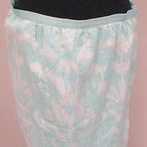 Vineyard Vines Sea Green & White Lined Abstract Print Cotton Pencil Skirt 8 Y161 Photo