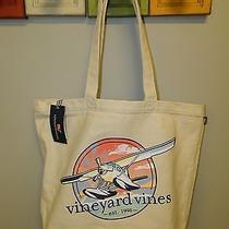 Vineyard Vines Seaplane Tote Canvas Unisex Bookbag Nwt Photo