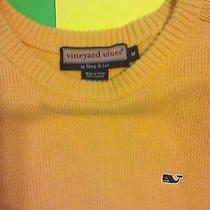 Vineyard Vines Shep Ian Creamsicle Orange Crewneck Pull Over Sweater Sz M Nice Photo