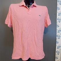 Vineyard Vines Shep & Ian Pink Polo Shirt Large 100% Cotton Black Whale Logo Photo
