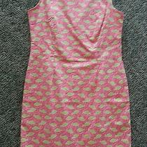 Vineyard Vines Shift Dress Sz 6 Green Fish Cotton Sleeveless Tank  Photo