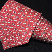 Vineyard Vines Silk Men's Tie Red & Lime Green/usb & novelty/3.75