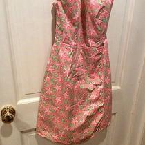 Vineyard Vines Size 4 Pink Starfish and Flowers Strapless Dress. Nice Photo