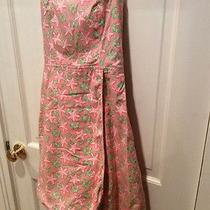 Vineyard Vines Size 4 Pink Starfish and Flowers Strapless Dress. Nice Photo
