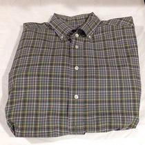 Vineyard Vines Size M Men's Murray Shirt Cotton Multicolored Plaid Button Front Photo