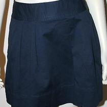 Vineyard Vines Skirt 4 Navy Blue Pleated Front Cotton Uniform Photo