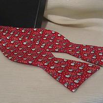 Vineyard Vines Snowman Brilliant Red Holiday/seasonal Bow Tie  Photo