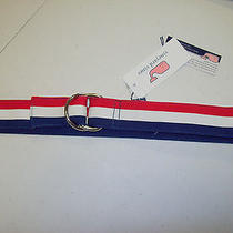 Vineyard Vines  Striped Grosgrain Ribbon D-Ring  Belt Nwt  Small 49.50 Photo