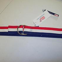 Vineyard Vines  Striped Grosgrain Ribbon D-Ring  Belt Nwt  Small 49.50 Photo