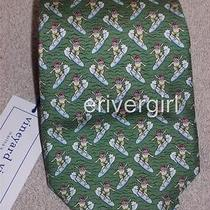 Vineyard Vines Surfing Santa Necktie in Green Nwt  Photo