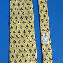Vineyard Vines Tie Yellow Custom Saratoga National Golf Club Silk Shep & Ian Photo