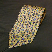 Vineyard Vines Tie Yellow Fish Print Photo