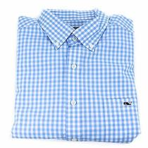Vineyard Vines Tucker Shirt Hightide Gingham Blue Lagoon Apparel S New Photo