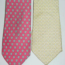 Vineyard Vines Two Mens Silk Ties - Golf & Navesink Country Club  Photo