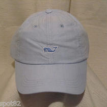 Vineyard Vines Washed Oxford Blue Whale on Blue Logo Cap/hat Photo