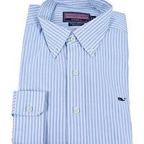 Vineyard Vines Whale Shirt University Stripe Coastline Ls Button Shirt S New Photo