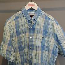 Vineyard Vines Whistler Plaid Bimini Blue Button Front Whale Shirt Sz L Nwt    Photo