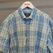 Vineyard Vines Whistler Plaid Classic Blue Button Front Whale Shirt Xl Nwt    Photo