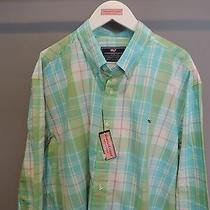 Vineyard Vines Whistler Plaid Flats Blue Button Front Whale Shirt 2xl Nwt    Photo