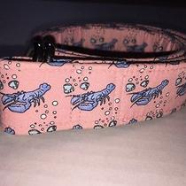 Vineyard Vines Womans Pink and Blue Lobster D Ring Belt Sz Medium Photo
