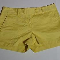 Vineyard Vines Women Flat Front Shorts Yellow Size 6 Euc Photo