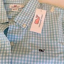 Vineyard Vines Women's 6 Otilt Gingham Shirt Dolphin Blue  Nwt- Free Shipping Photo