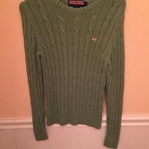 Vineyard Vines Women's Green Cable Knit Sweater Photo