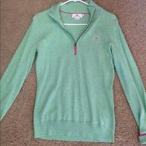 Vineyard Vines Womens Light Green 1/4 Zip Sweater - Size Small Photo