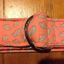 Vineyard Vines Women's Pink D Ring Watermelon Belt- Size Small- Retails 38 Photo
