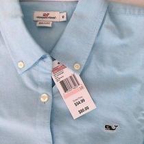 Vineyard Vines Women's Size 10 Oxford Shirt Dolphin Blue - Free Shipping  Photo