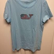 Vineyard Vines Womens American Whale Dolphin Blue Small New Photo